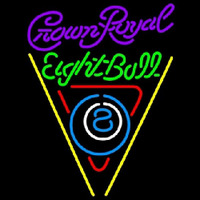 Crown Royal Eightball Billiards Pool Beer Sign Neontábla