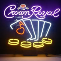 Crown Royal Poker Chips Neontábla