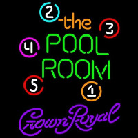 Crown Royal Pool Room Billiards Beer Sign Neontábla