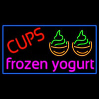 Cups Frozen Yogurt Neontábla