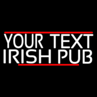 Custom Irish Pub With Red Line Neontábla