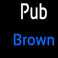 Custom Pub Brown 2 Neontábla