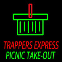Custom Trappers E press Picnic Take Out Neontábla
