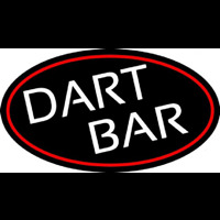 Dart Bar With Oval With Red Border Neontábla