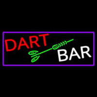 Dart Bar With Purple Border Neontábla