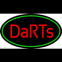 Darts Oval With Green Border Neontábla