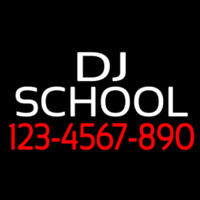 Dj School With Phone Number Neontábla