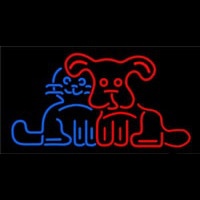 Dog Cat Logo Neontábla