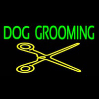 Dog Grooming With Cache Neontábla