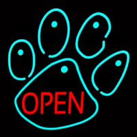 Dog Open Logo Neontábla