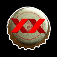 Dos Equis Amber Me ico Bottle Cap Beer Sign Neontábla