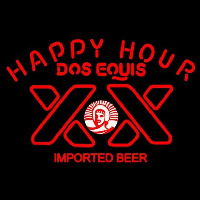 Dos Equis Beer Happy Hour Beer Sign Neontábla