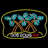 Dos Equis X  Plam Tree Beer Sign Neontábla