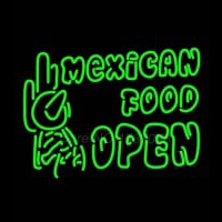Double Stroke Mexican Food Open Neontábla