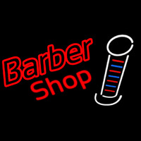 Double Stroke Red Barber Shop Neontábla