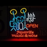 FAVORITE MUSIC WINE Neontábla