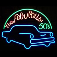 Fabulous 50S For Garage Man Cave Wall Art Neontábla