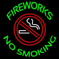 Fire Works No Smoking With Logo Neontábla