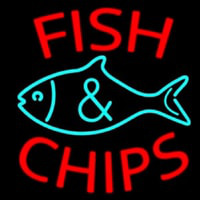 Fish Logo Fish And Chips Neontábla