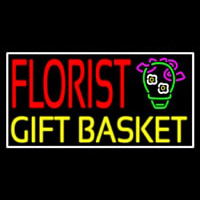Florist Gifts Baskets White Border Neontábla