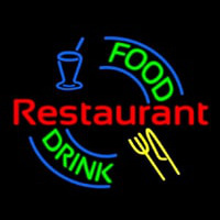 Food And Drink Restaurant Logo Neontábla