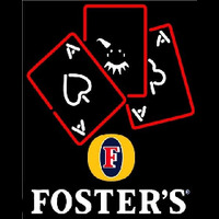 Fosters Ace And Poker Beer Sign Neontábla