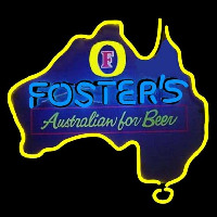 Fosters Australia Beer Sign Neontábla
