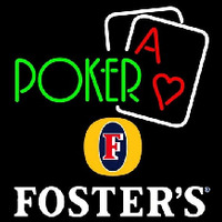 Fosters Green Poker Beer Sign Neontábla
