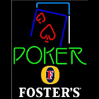 Fosters Green Poker Red Heart Beer Sign Neontábla