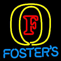 Fosters Initial Beer Sign Neontábla