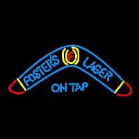 Fosters Lager Boomerang Beer Sign Neontábla