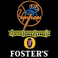 Fosters New York Yankees Beer Sign Neontábla