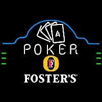 Fosters Poker Ace Cards Beer Sign Neontábla