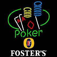 Fosters Poker Ace Coin Table Beer Sign Neontábla