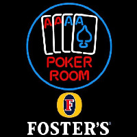 Fosters Poker Room Beer Sign Neontábla