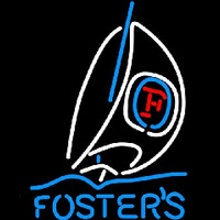 Fosters Sailboat Beer Sign Neontábla