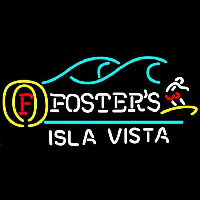 Fosters Surfer Isla Vista Beer Sign Neontábla