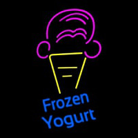 Frozen Yogurt Blue Ltrs With Cone Logo Neontábla