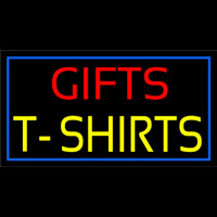 Gifts Tshirts With Blue Border Neontábla