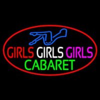 Girls Girls Girls The Cabaret Girl Logo Neontábla