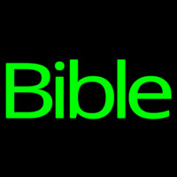 Green Bible Neontábla