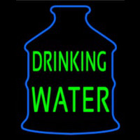 Green Drinking Water Logo Neontábla