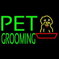 Green Pet Grooming Block 1 Neontábla