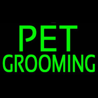 Green Pet Grooming Block 2 Neontábla
