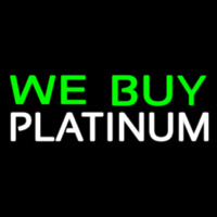 Green We Buy White Platinum Neontábla