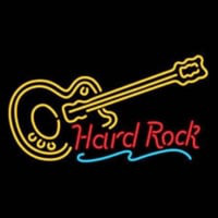 Hard ROCK LIVE MUSIC Guitar Party Neontábla