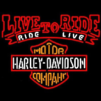Harley Davidson Live To Ride Ride To Live Neontábla