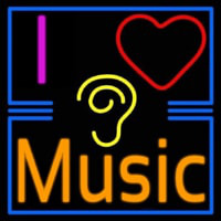 I Love Hearing Music Neontábla