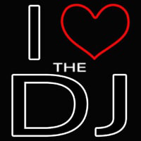 I Love The Dj Neontábla