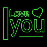 I Love You Green Neontábla